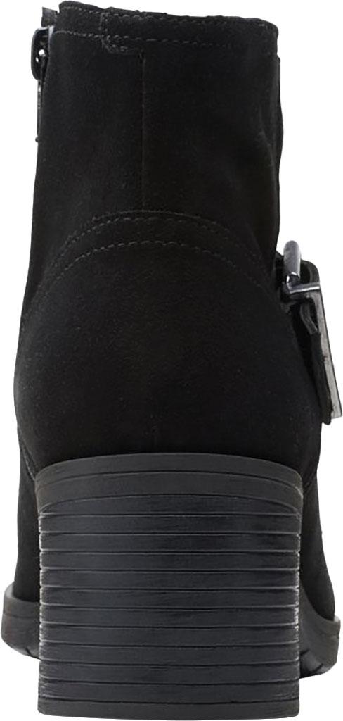 Women's Clarks Hollis Star Ankle Bootie, Black Combination Suede, large, image 4