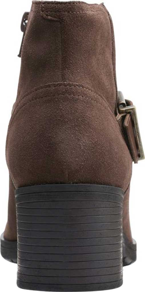 Women's Clarks Hollis Star Ankle Bootie, Dark Taupe Combination Suede, large, image 4