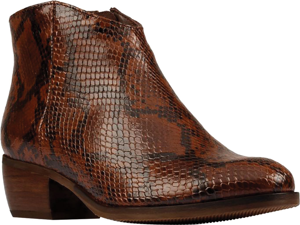 Women's Clarks Mila Myth Ankle Bootie, Tan Snake Leather, large, image 1