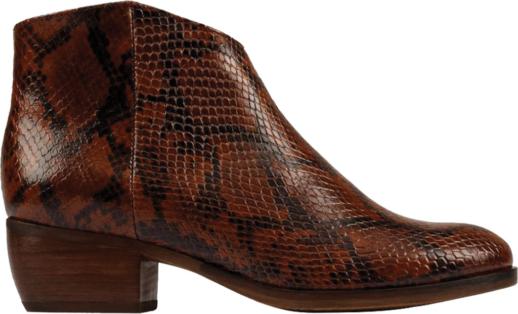 Women's Clarks Mila Myth Ankle Bootie, Tan Snake Leather, large, image 2
