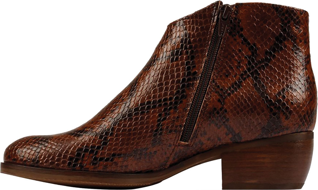 Women's Clarks Mila Myth Ankle Bootie, Tan Snake Leather, large, image 3