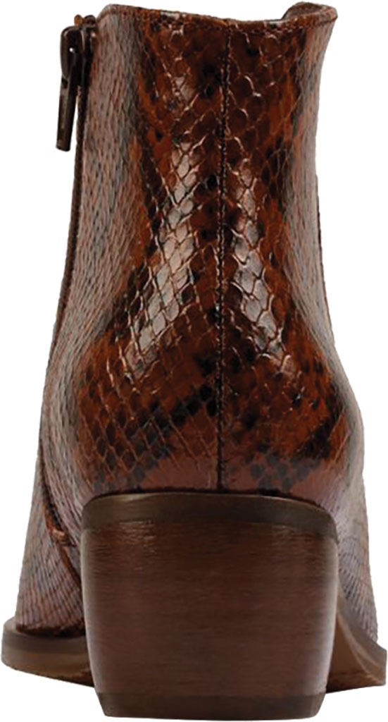 Women's Clarks Mila Myth Ankle Bootie, Tan Snake Leather, large, image 4
