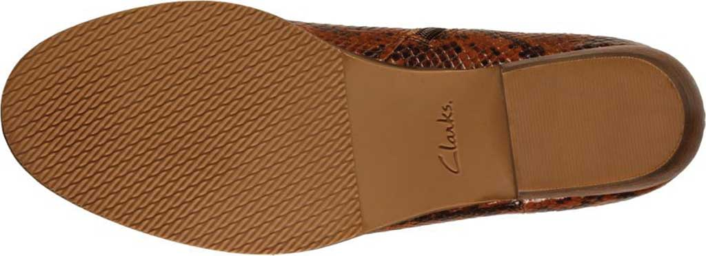Women's Clarks Mila Myth Ankle Bootie, Tan Snake Leather, large, image 6