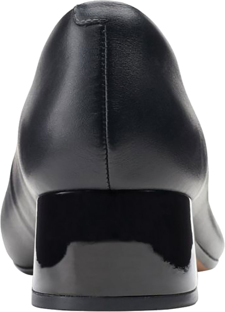 Women's Clarks Marilyn Sara Cap Toe Pump, Black Combination Full Grain Leather/Synthetic, large, image 4