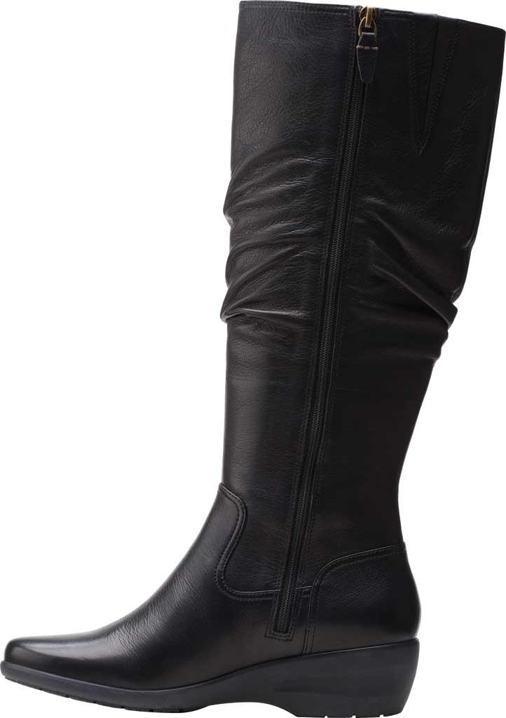 Women's Clarks Rosely Hi Slouch Boot, Black Full Grain Leather, large, image 3