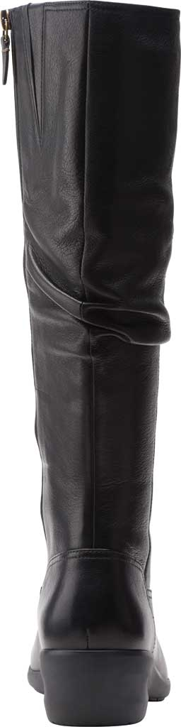 Women's Clarks Rosely Hi Slouch Boot, Black Full Grain Leather, large, image 4
