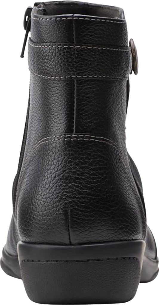 Women's Clarks Cheyn Zoe Slouch Bootie, Black Full Grain Leather, large, image 4