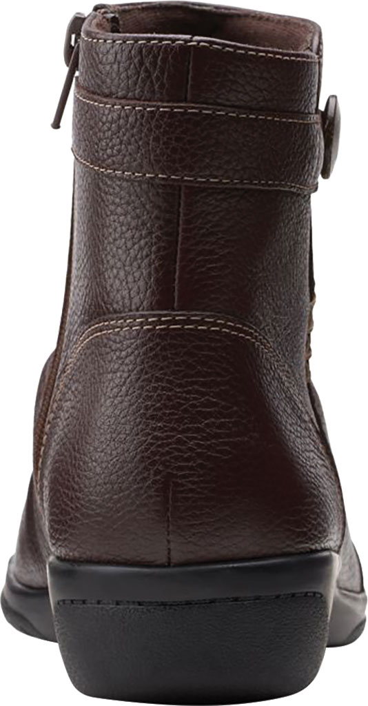 Women's Clarks Cheyn Zoe Slouch Bootie, Dark Brown Full Grain Leather, large, image 4
