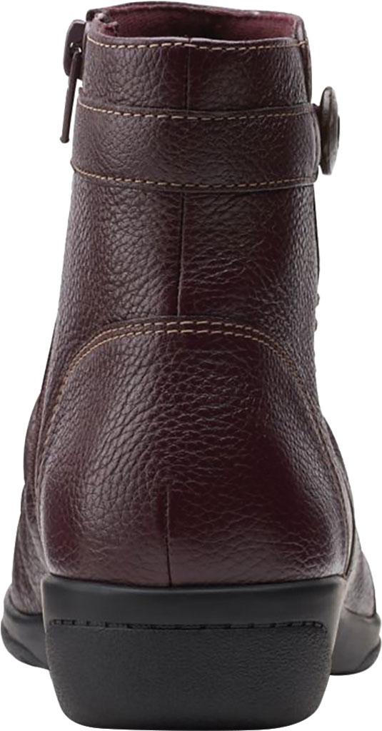Women's Clarks Cheyn Zoe Slouch Bootie, Burgundy Full Grain Leather, large, image 4