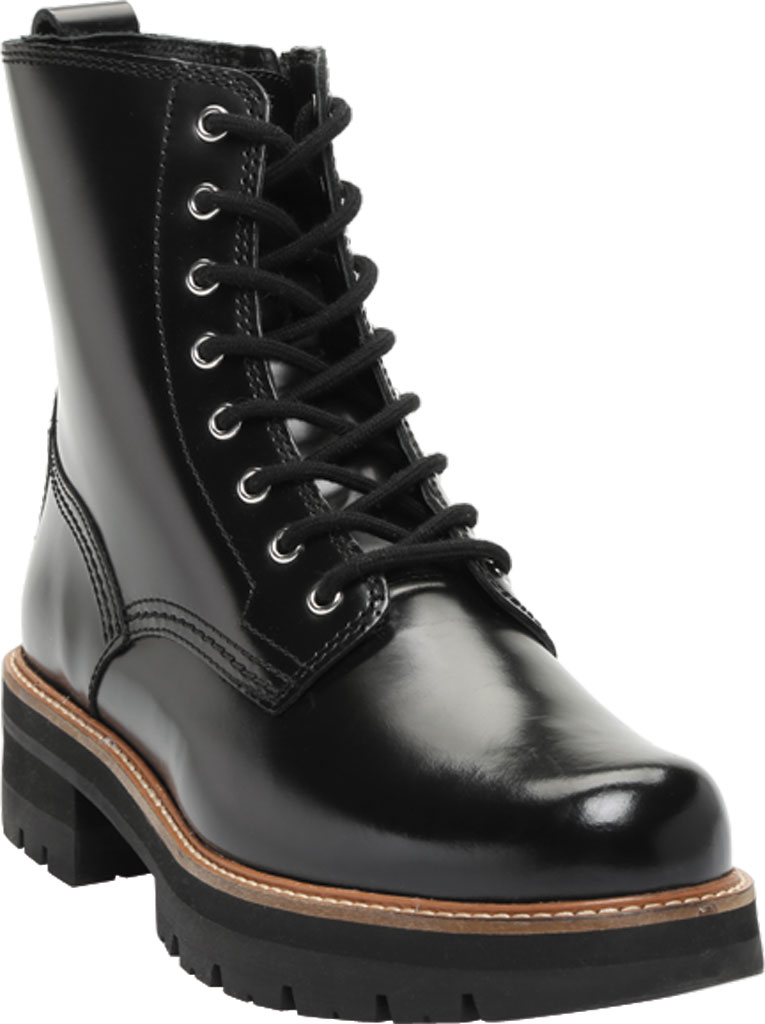 Women's Clarks Orianna Hi Ankle Bootie, Black Leather, large, image 1