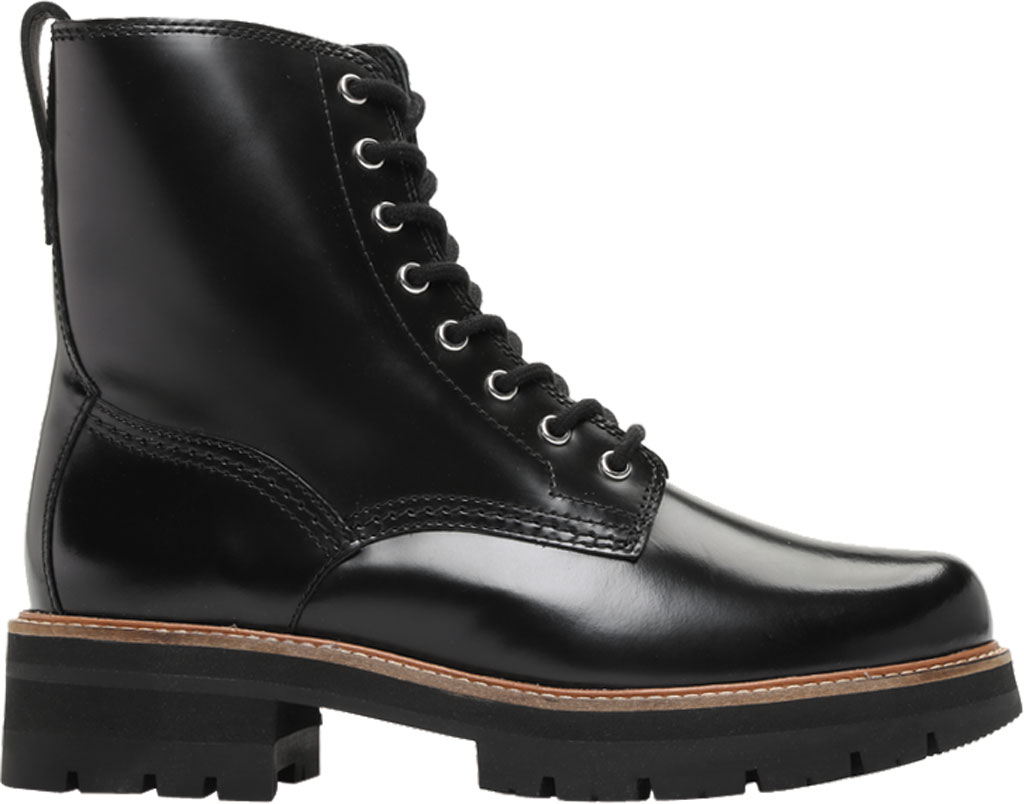 Women's Clarks Orianna Hi Ankle Bootie, Black Leather, large, image 2