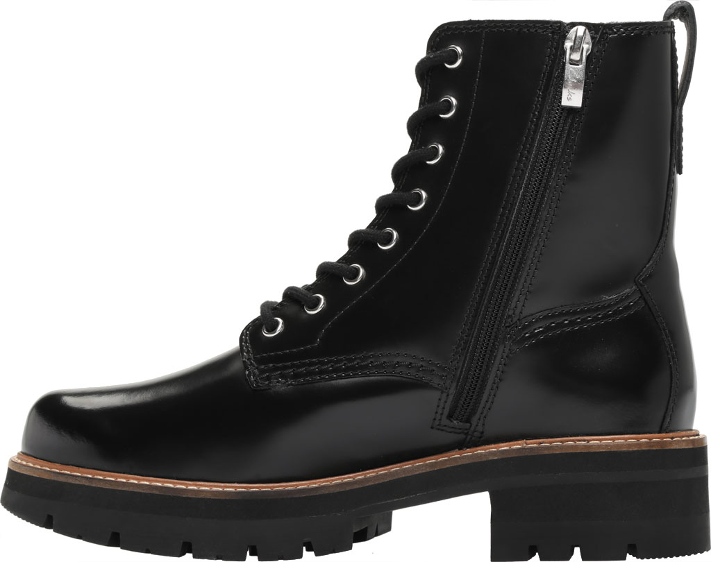Women's Clarks Orianna Hi Ankle Bootie, Black Leather, large, image 3