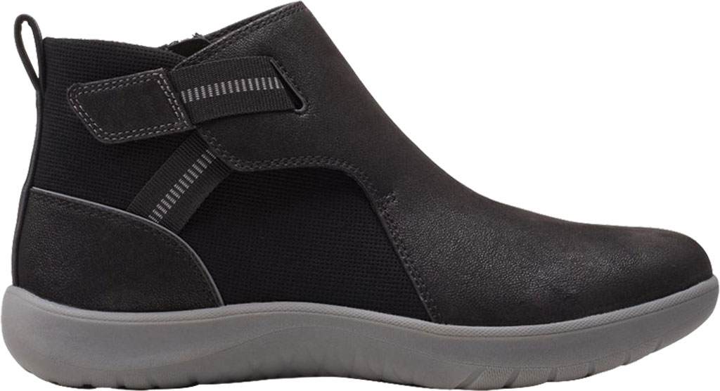 Women's Clarks Adella Cove Ankle Boot, Black Textile, large, image 2