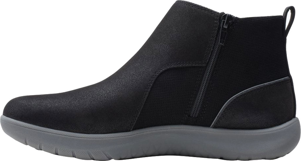 Women's Clarks Adella Cove Ankle Boot, Black Textile, large, image 3