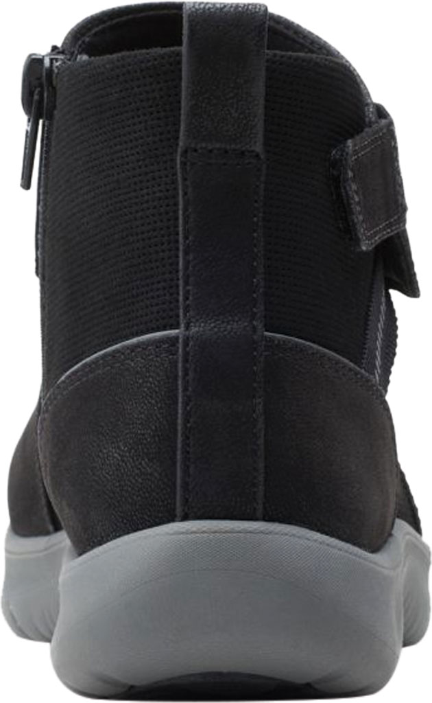 Women's Clarks Adella Cove Ankle Boot, Black Textile, large, image 4