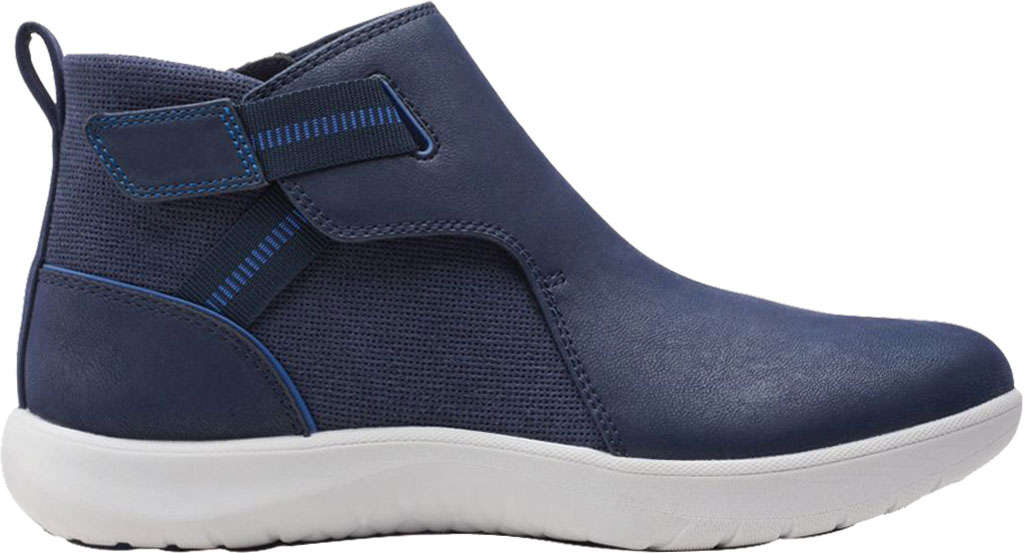 Women's Clarks Adella Cove Ankle Boot, Navy Textile, large, image 2