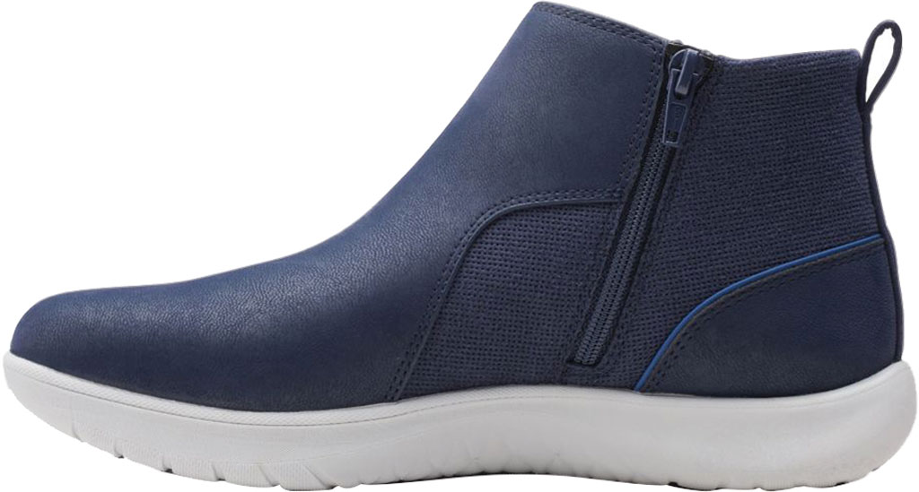 Women's Clarks Adella Cove Ankle Boot, Navy Textile, large, image 3