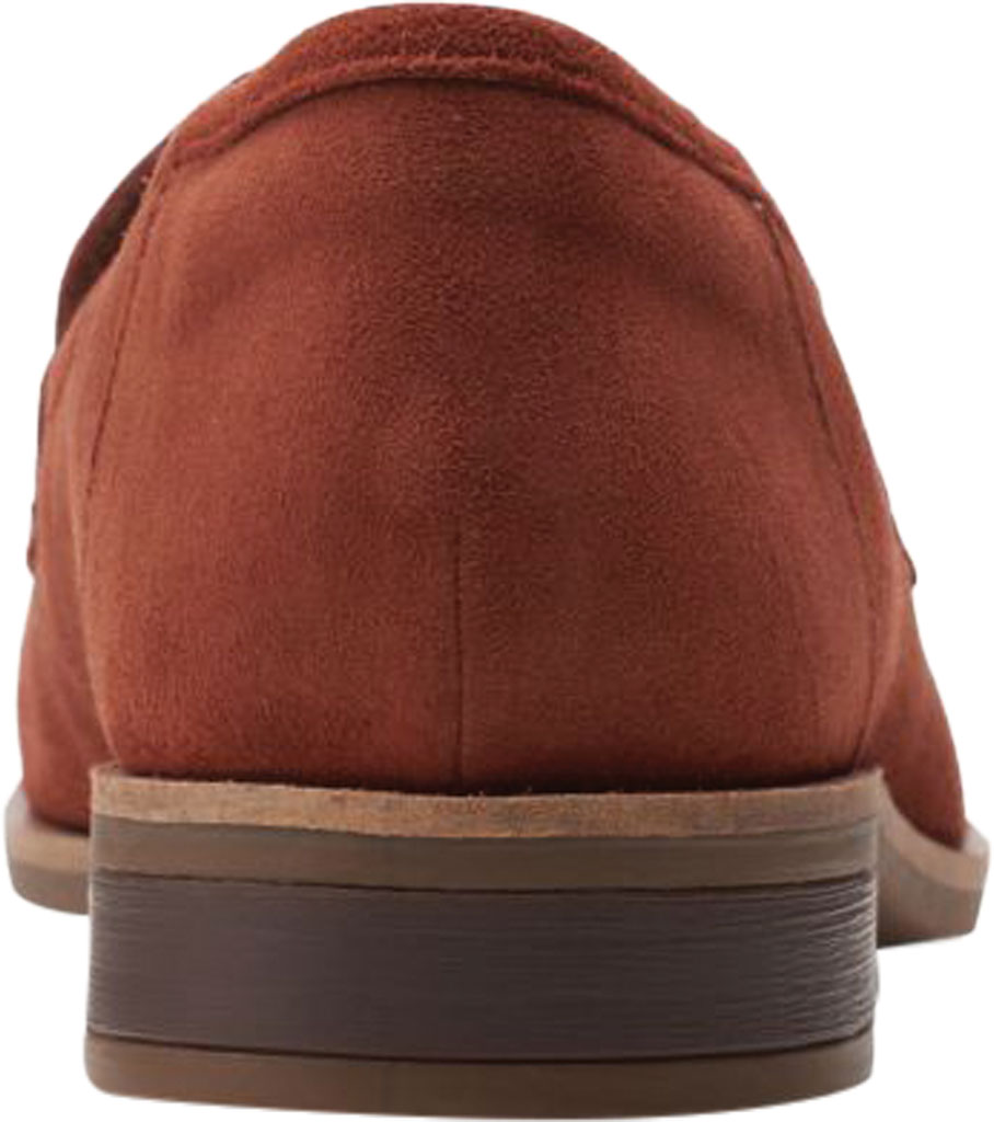 Women's Clarks Trish Rose Penny Loafer, Mahogany Suede, large, image 4