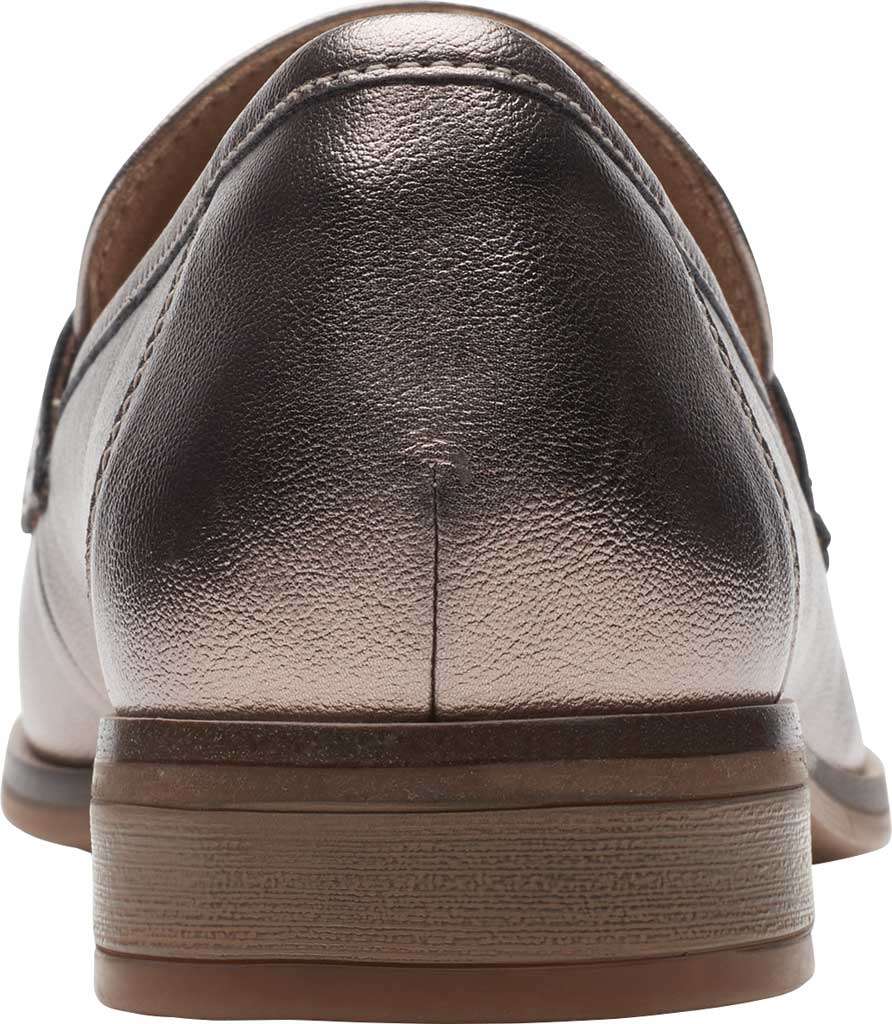 Women's Clarks Trish Rose Penny Loafer, Metallic Synthetic, large, image 4