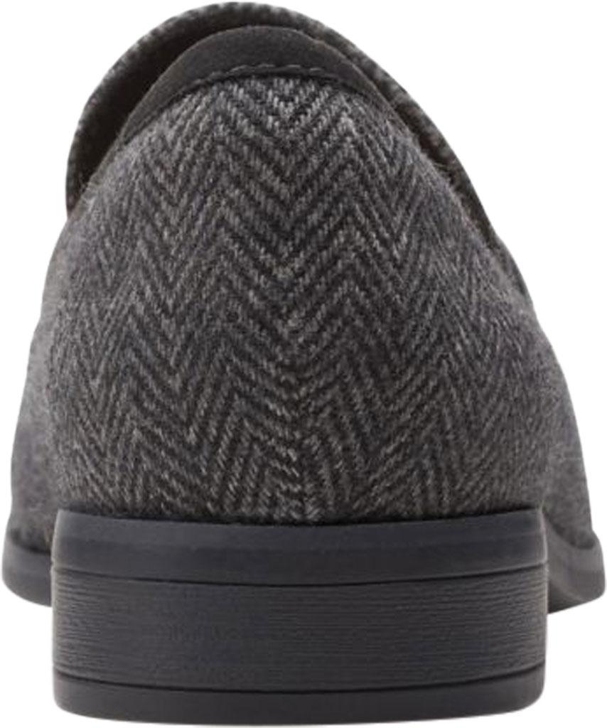 Women's Clarks Trish Rose Penny Loafer, Black Combination Textile/Leather, large, image 4