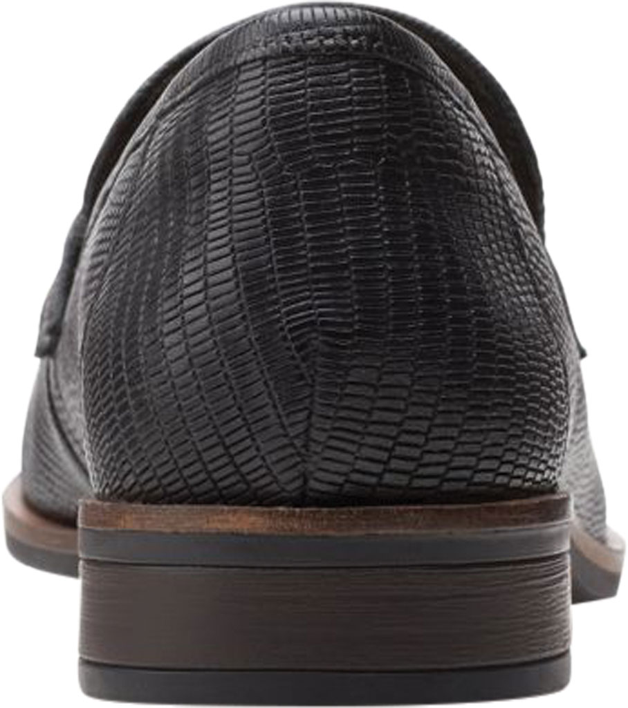 Women's Clarks Trish Rose Penny Loafer, Black Lizard Print Full Grain Leather, large, image 4
