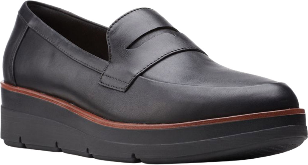 Women's Clarks Shaylin Step Wedge Penny Loafer, , large, image 1