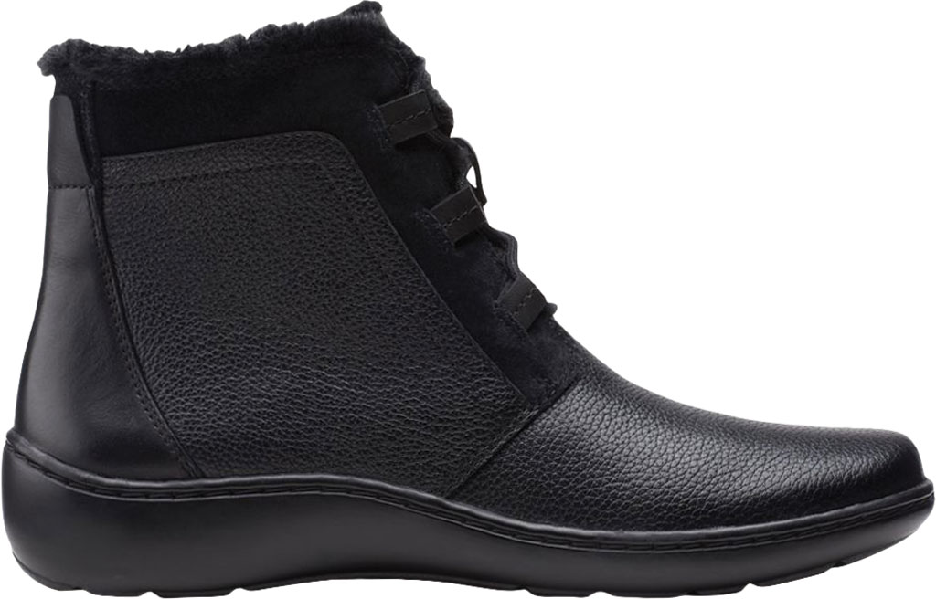 Women's Clarks Cora Chai Ankle Bootie, Black Full Grain Leather, large, image 2