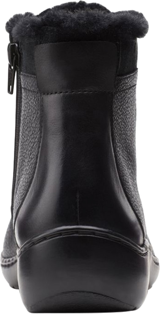 Women's Clarks Cora Chai Ankle Bootie, Black Full Grain Leather, large, image 4
