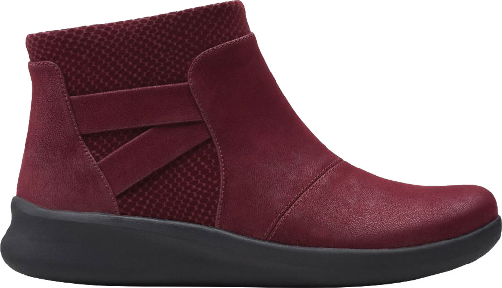 Women's Clarks Sillian 2.0 Hi Ankle Bootie, Burgundy Synthetic, large, image 2