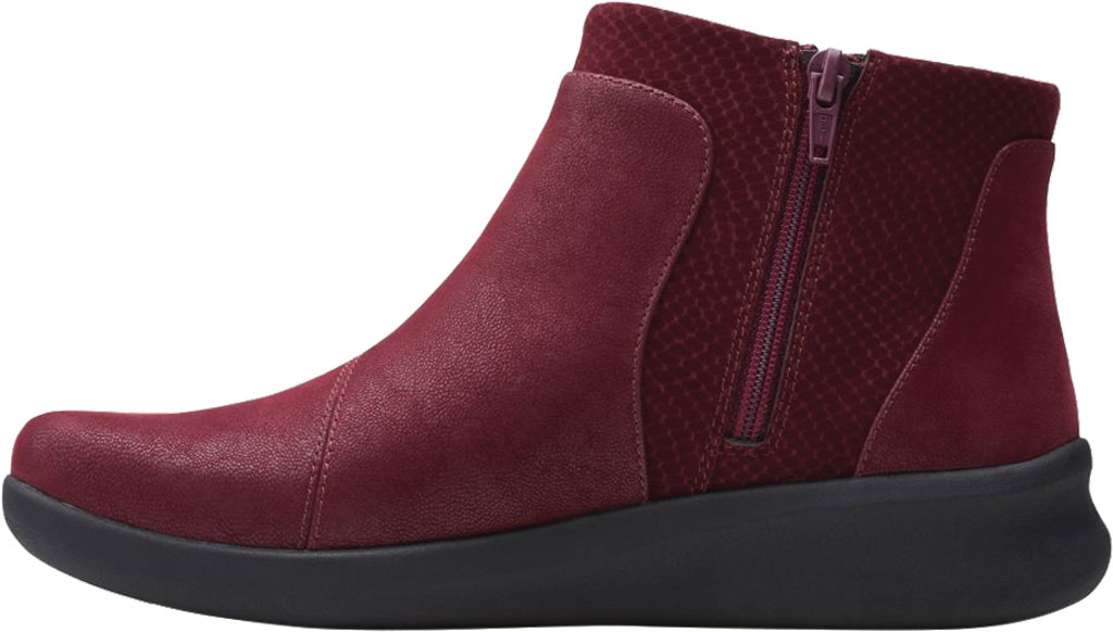 Women's Clarks Sillian 2.0 Hi Ankle Bootie, Burgundy Synthetic, large, image 3