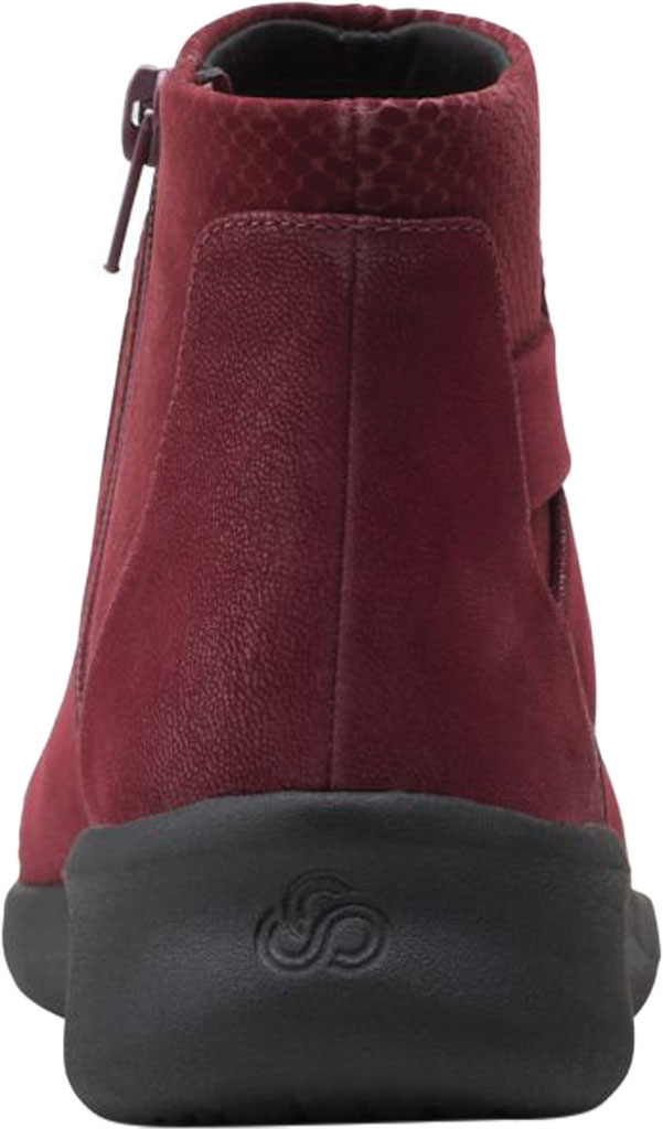 Women's Clarks Sillian 2.0 Hi Ankle Bootie, Burgundy Synthetic, large, image 4