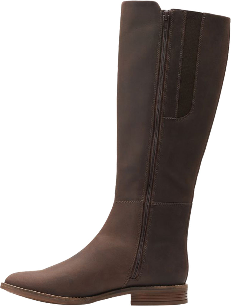 Women's Clarks Camzin Branch Knee High Boot, Dark Brown Leather, large, image 3