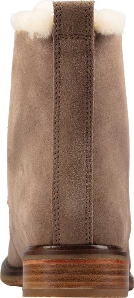 Women's Clarks Clarkdale Lace Ankle Bootie, Pebble Warm Lined Suede, large, image 4