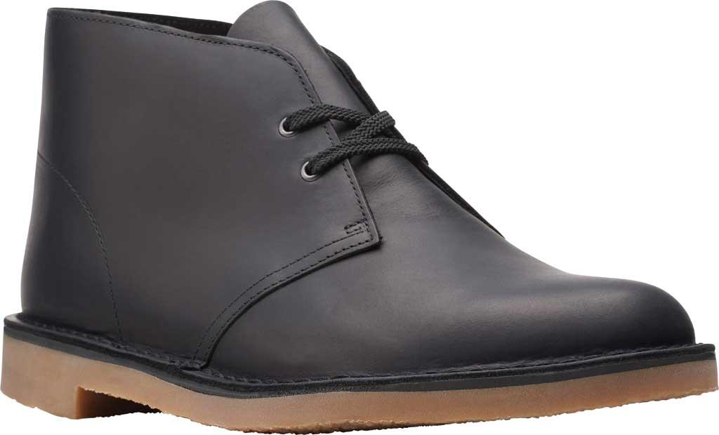 Men's Clarks Bushacre 3 Chukka Boot, Black Full Grain Leather, large, image 1