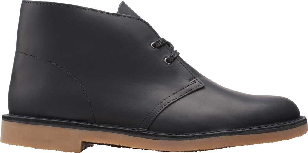 Men's Clarks Bushacre 3 Chukka Boot, Black Full Grain Leather, large, image 2