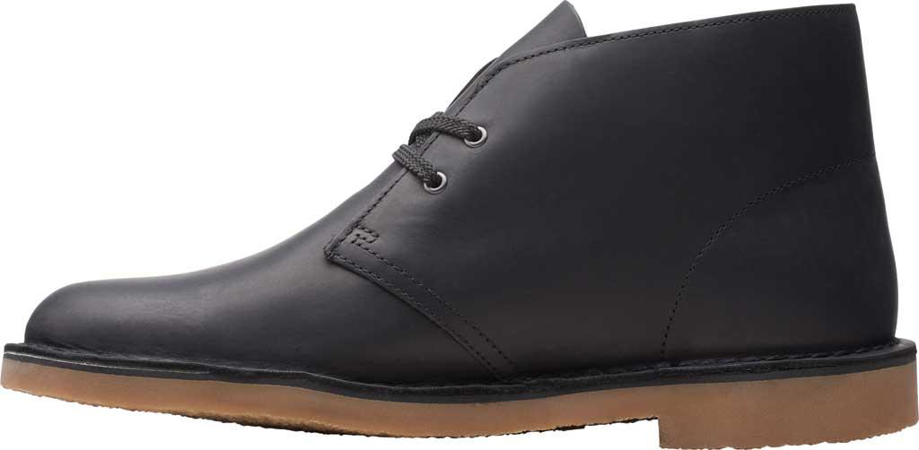 Men's Clarks Bushacre 3 Chukka Boot, Black Full Grain Leather, large, image 3