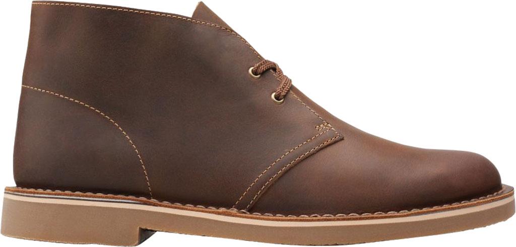 Men's Clarks Bushacre 3 Chukka Boot, Beeswax Full Grain Leather, large, image 2