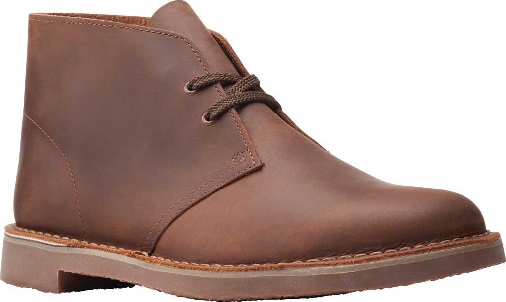 Men's Clarks Bushacre 3 Chukka Boot, Dark Brown Full Grain Leather, large, image 1
