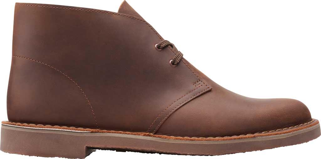Men's Clarks Bushacre 3 Chukka Boot, Dark Brown Full Grain Leather, large, image 2