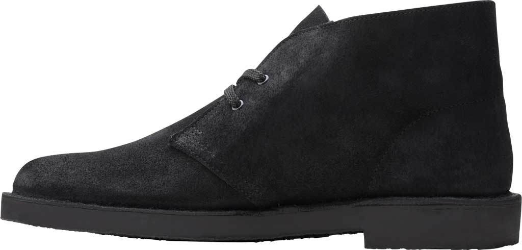 Men's Clarks Bushacre 3 Chukka Boot, Black Waxy Suede, large, image 3