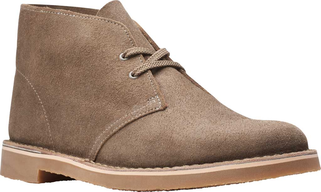 Men's Clarks Bushacre 3 Chukka Boot, Sand Waxy Suede, large, image 1