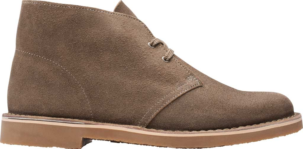 Men's Clarks Bushacre 3 Chukka Boot, Sand Waxy Suede, large, image 2