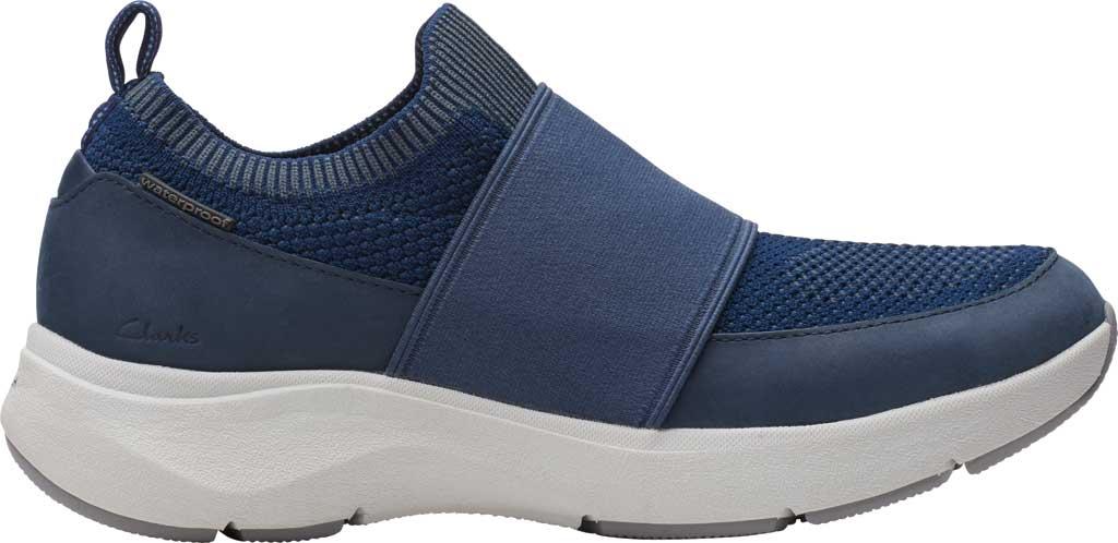 Women's Clarks Wave 2.0 Step Slip On Sneaker, Navy Combination Nubuck/Textile, large, image 2
