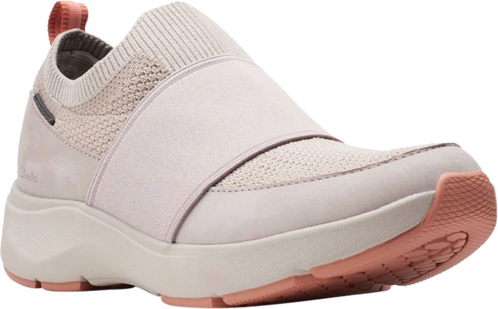 Women's Clarks Wave 2.0 Step Slip On Sneaker, Stone Combination Nubuck/Textile, large, image 1