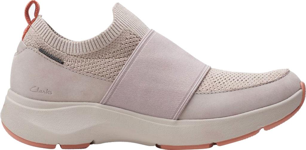 Women's Clarks Wave 2.0 Step Slip On Sneaker, Stone Combination Nubuck/Textile, large, image 2