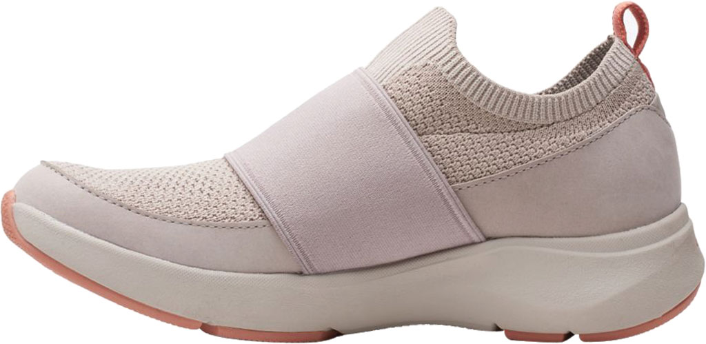Women's Clarks Wave 2.0 Step Slip On Sneaker, Stone Combination Nubuck/Textile, large, image 3