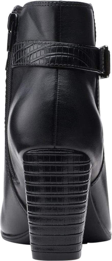 Women's Clarks Alayna Juno Heeled Ankle Bootie, Black Combination Leather/Synthetic, large, image 4