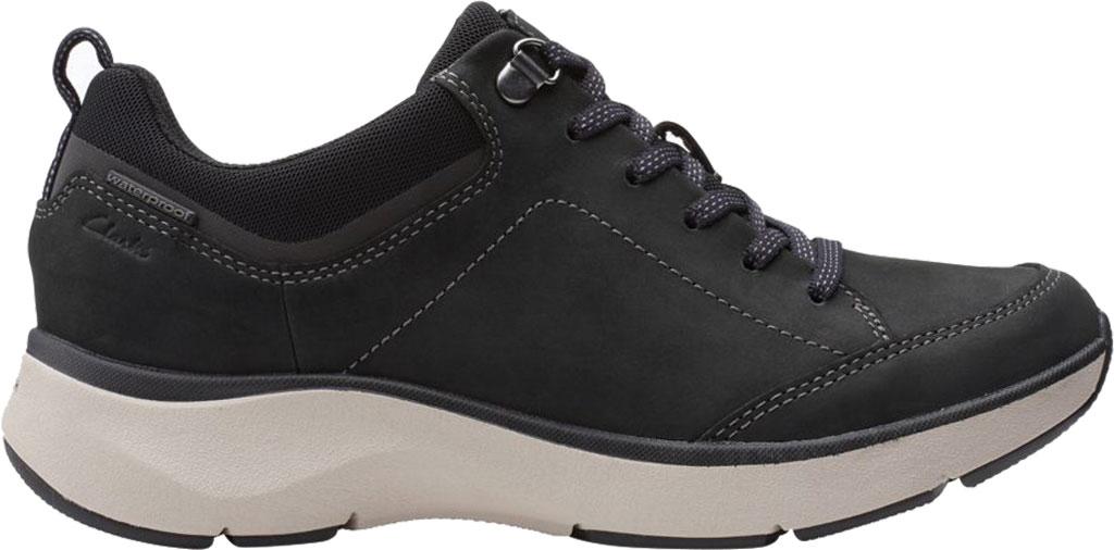 Women's Clarks Wave 2.0 Lace Sneaker, Black Combination Nubuck/Textile, large, image 2