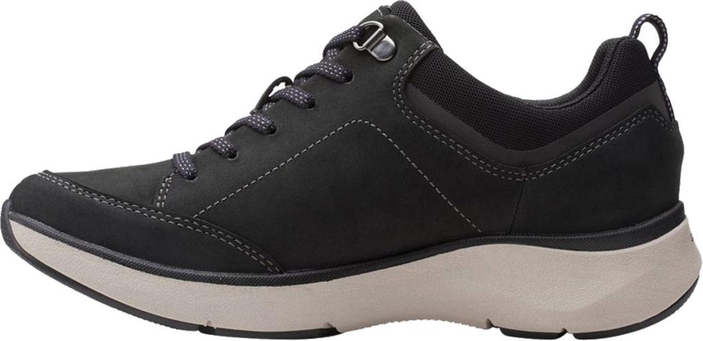 Women's Clarks Wave 2.0 Lace Sneaker, Black Combination Nubuck/Textile, large, image 3