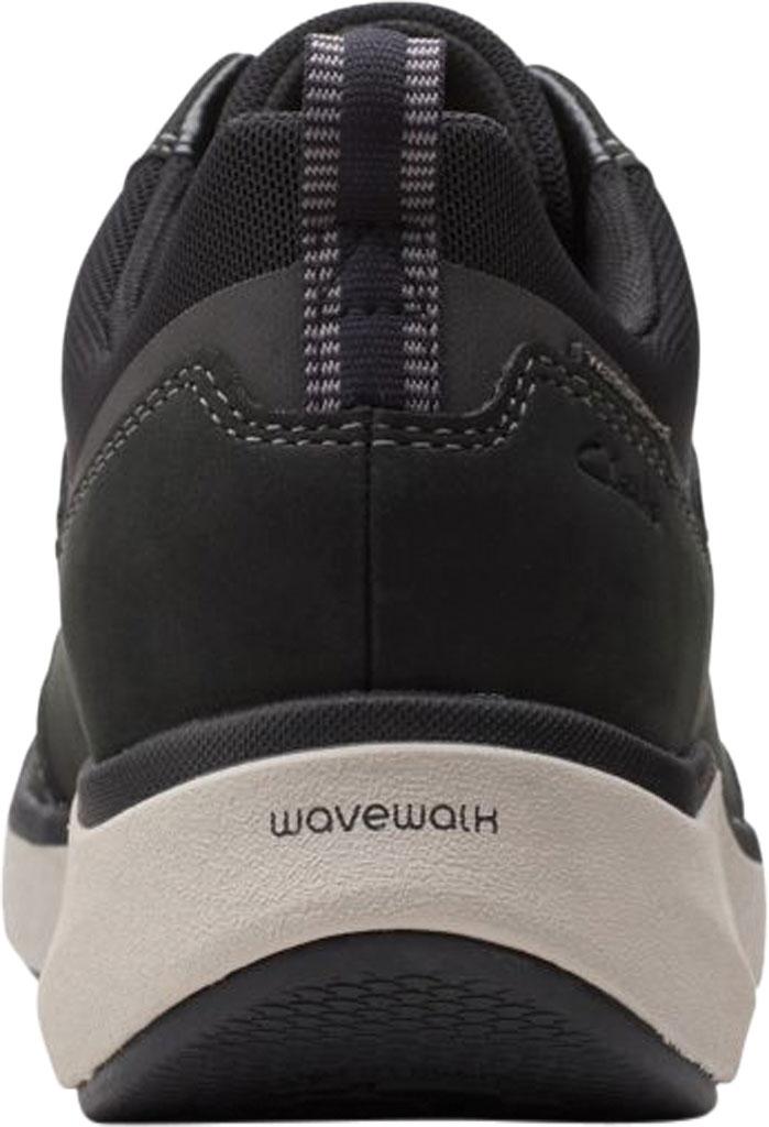 Women's Clarks Wave 2.0 Lace Sneaker, Black Combination Nubuck/Textile, large, image 4